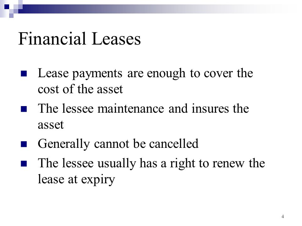 Sale and Lease Back A Special Financial Leases A firm sells an asset, and then leases it back immediately  Why would a firm do this.