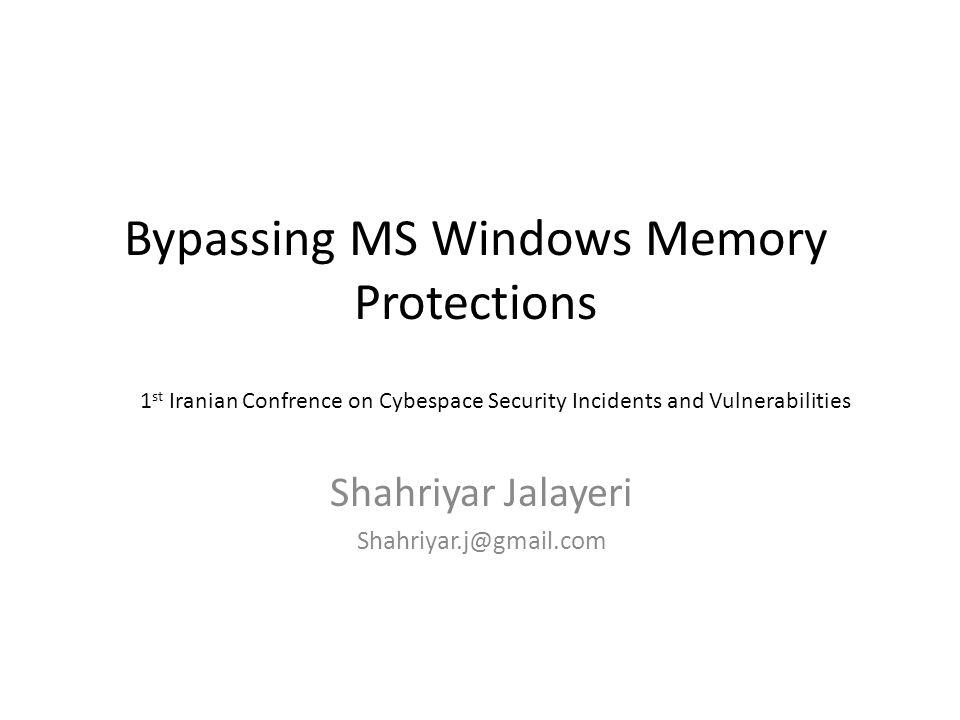 Memory Protections Demo HeapSpray Technique