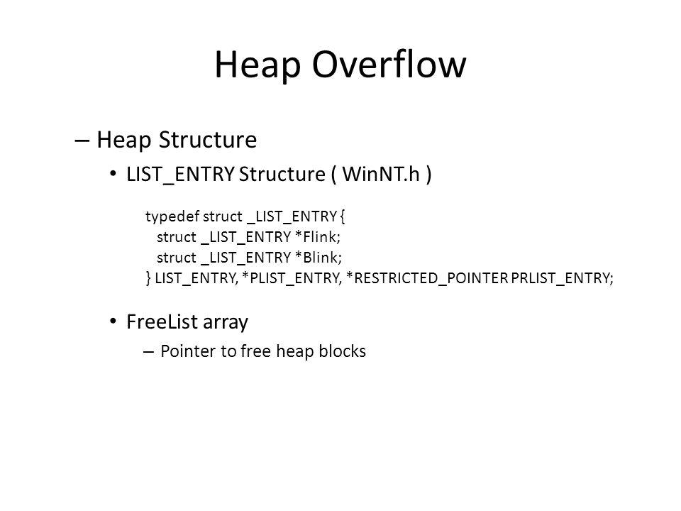 Heap Overflow ( cont.