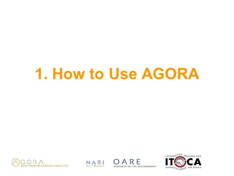 1. How to Use AGORA