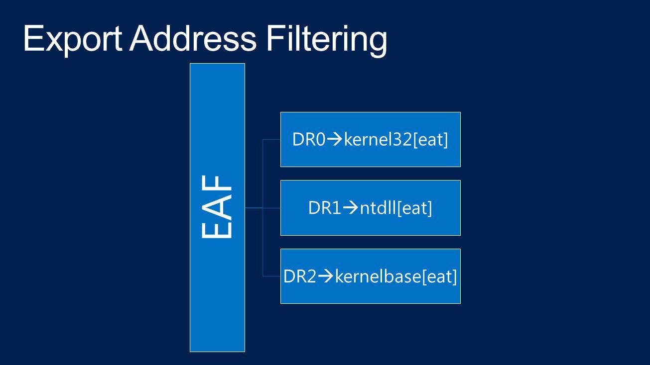 EAF DR0  kernel32[eat] DR1  ntdll[eat] DR2  kernelbase[eat]