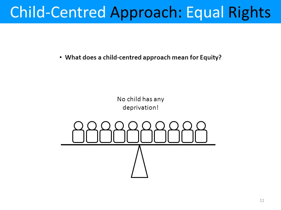 Child-Centred Approach: Equal Rights No child has any deprivation.