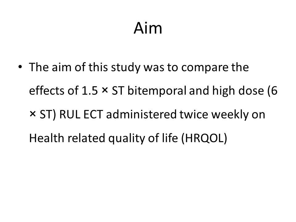 Predicting HRQOL 6 months after ECT for severe depression