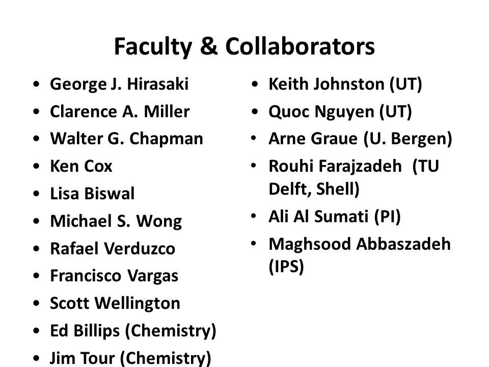 Faculty & Collaborators George J.Hirasaki Clarence A.