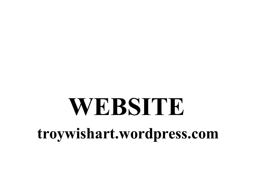 troywishart.wordpress.com WEBSITE