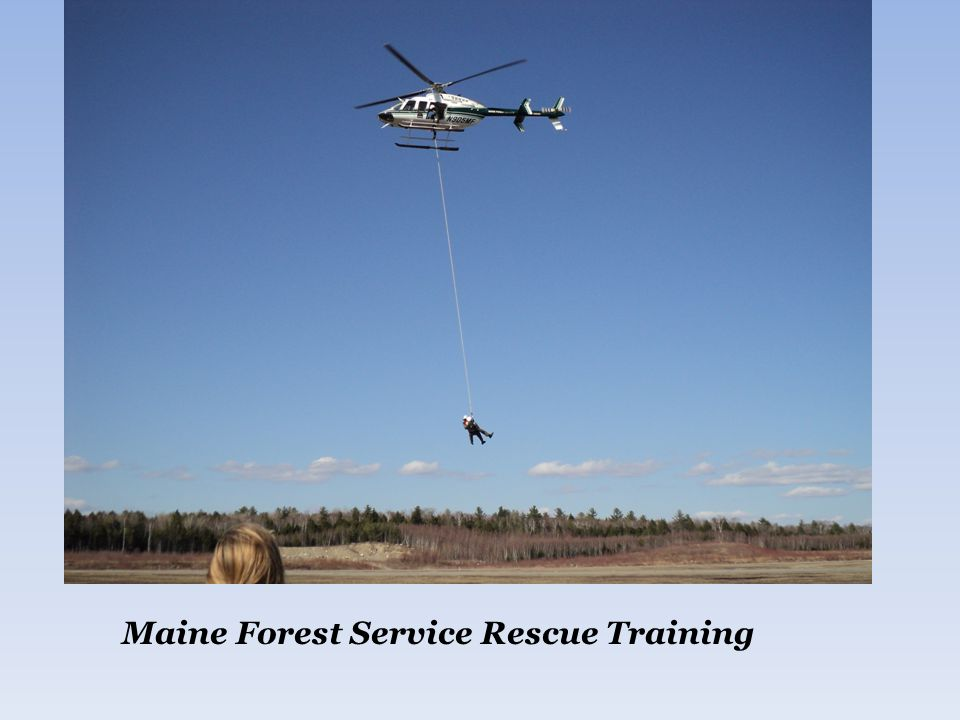 Maine Forest Service Rescue Training