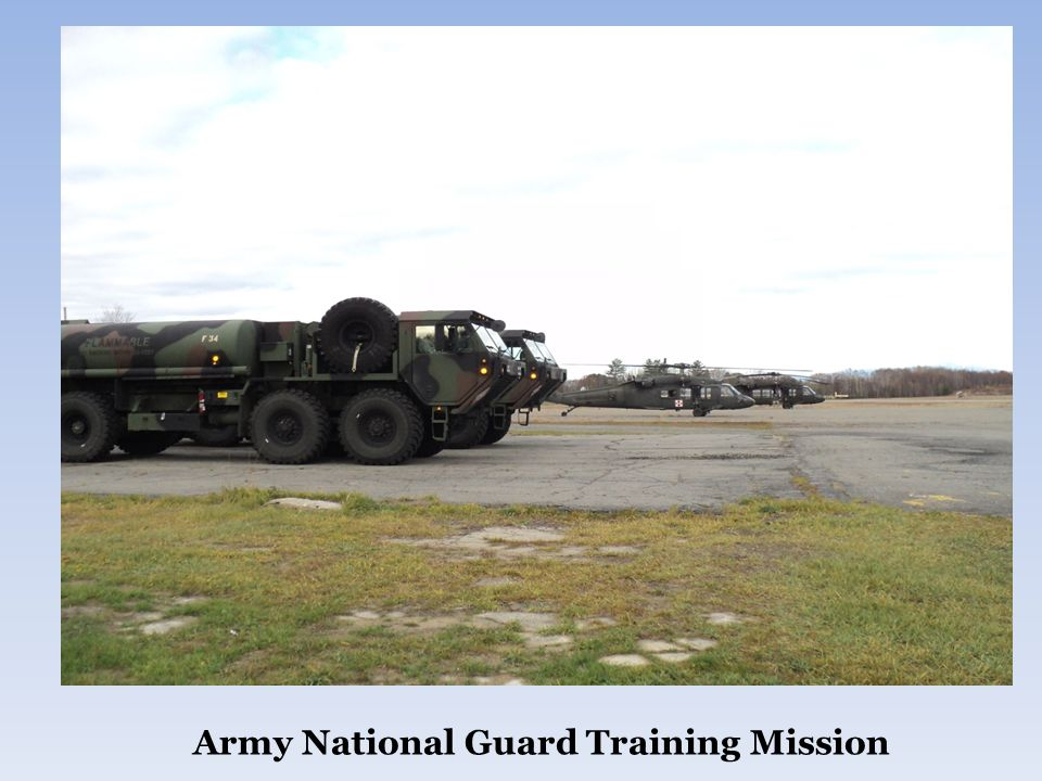 Army National Guard Training Mission