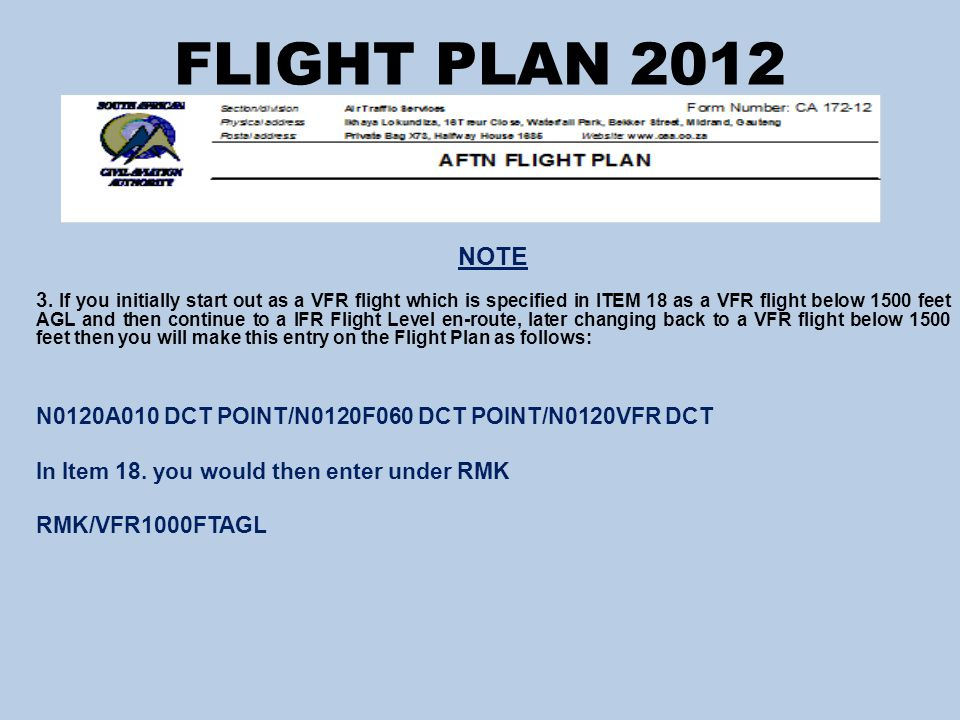 FLIGHT PLAN 2012 NOTE 3.
