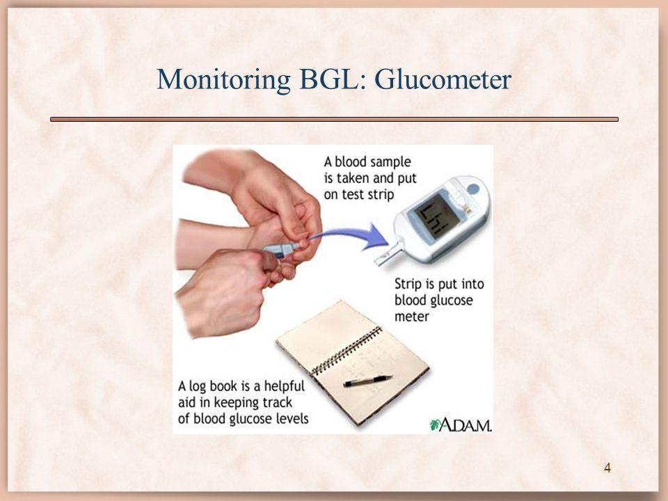 Monitoring BGL: Glucometer 4
