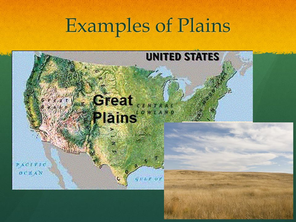 Examples of Plains