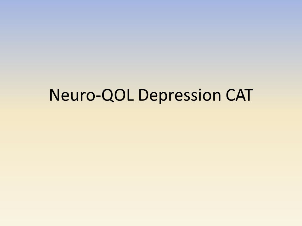 Neuro-QOL Depression CAT