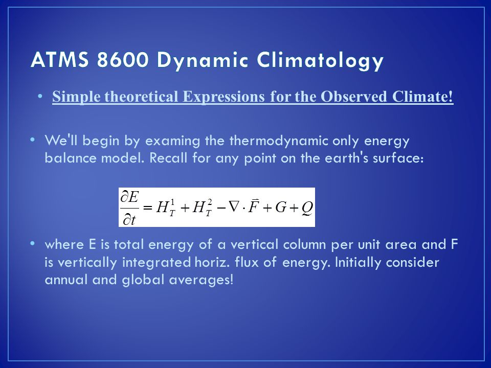 Simple theoretical Expressions for the Observed Climate.