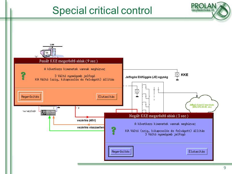 Special critical control 9
