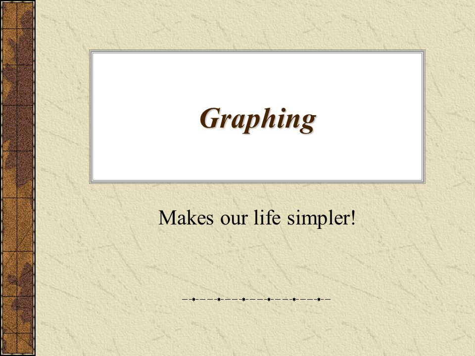 Graphing Makes our life simpler!