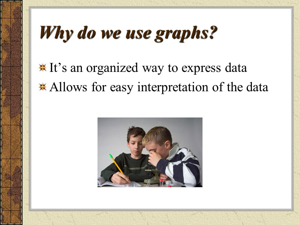 Why do we use graphs.