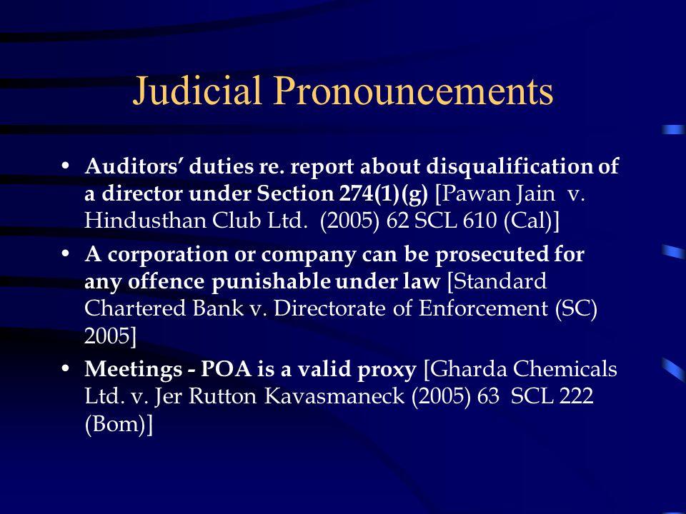 Judicial Pronouncements Auditors' duties re.