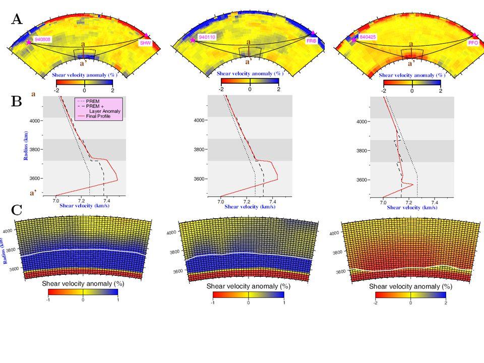 3D synthetics for middle mantle slab model