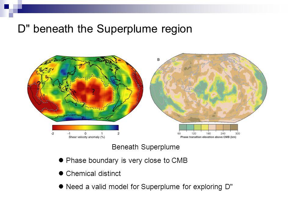 D beneath the Superplume region .
