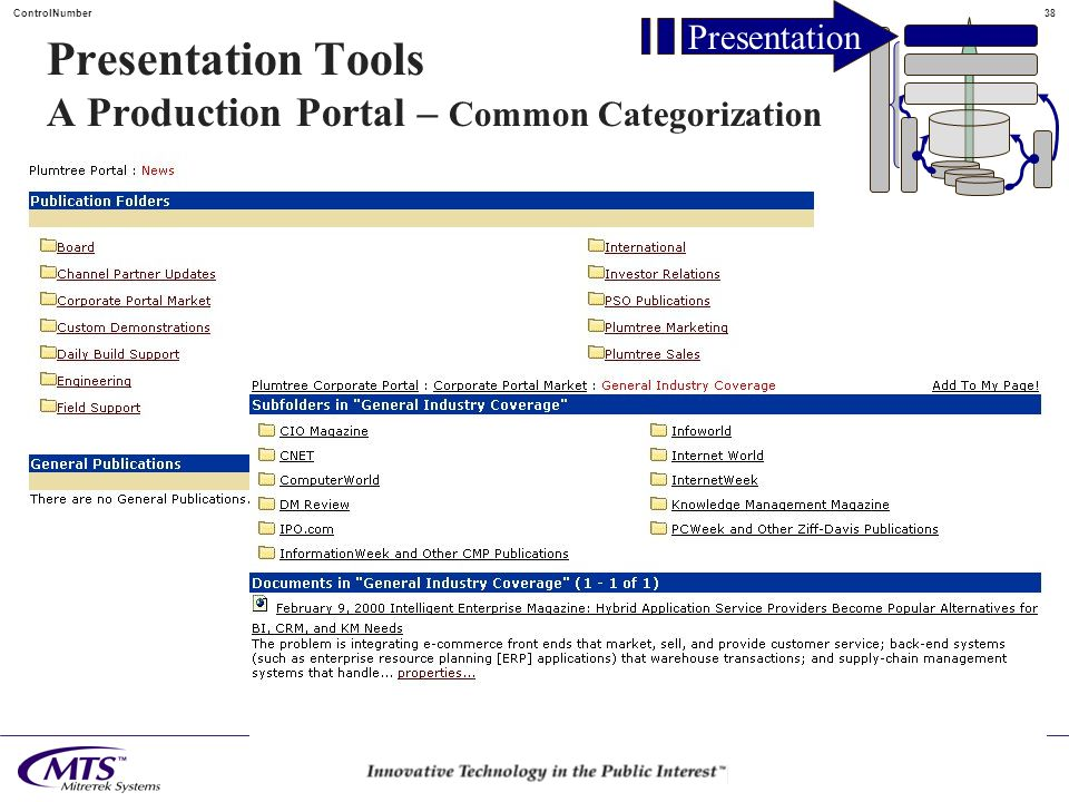 37ControlNumber Presentation Tools A Production Portal Presentation