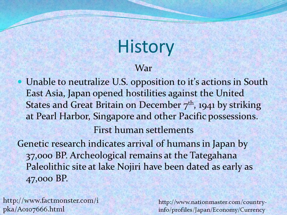 History War Unable to neutralize U.S.