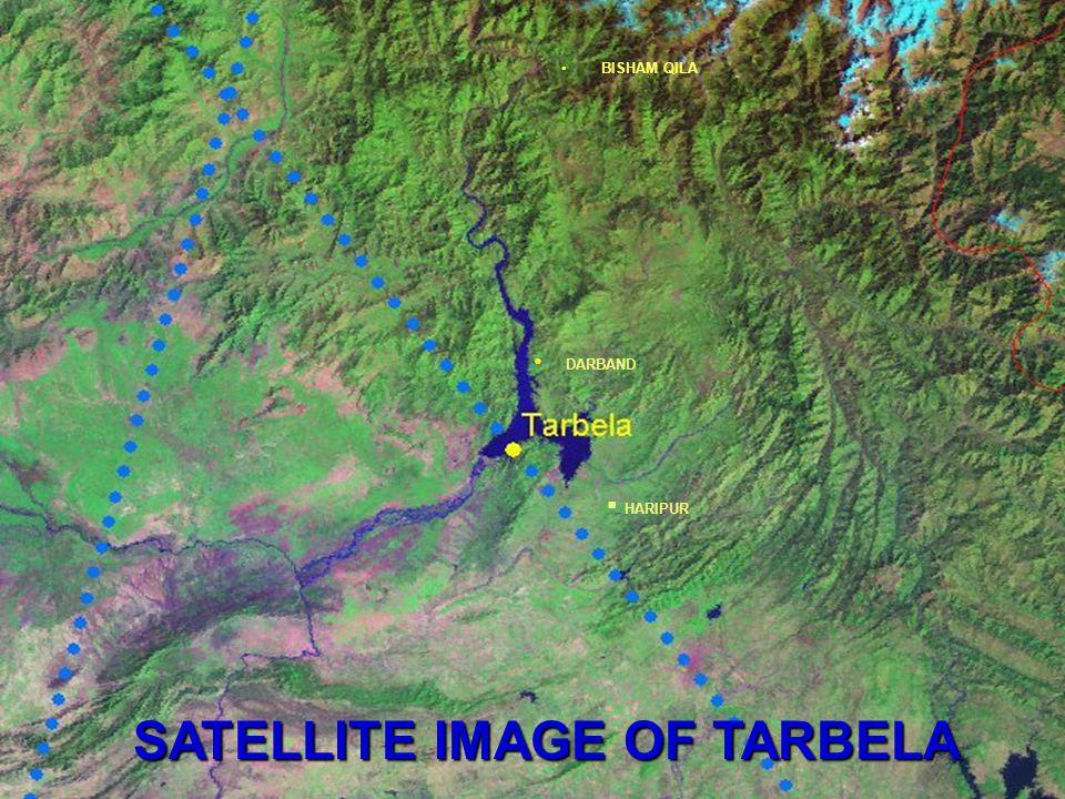 SATELLITE IMAGE OF TARBELA  HARIPUR DARBAND BISHAM QILA