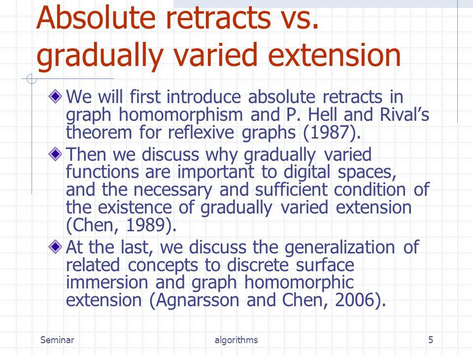 Seminaralgorithms5 Absolute retracts vs.