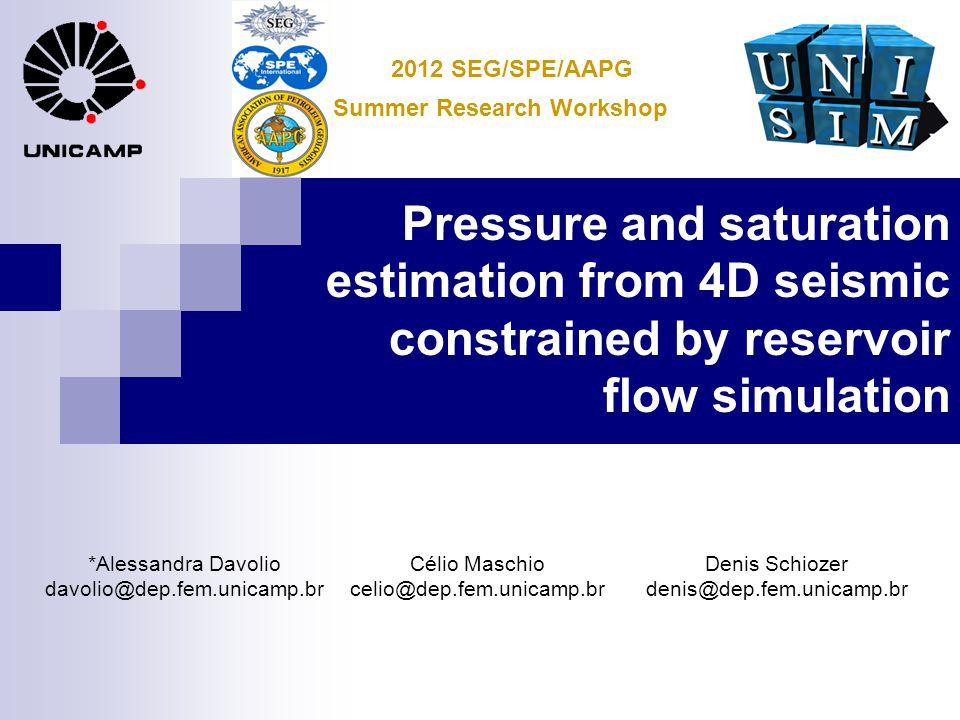 Pressure and saturation estimation from 4D seismic constrained by reservoir flow simulation *Alessandra Davolio davolio@dep.fem.unicamp.br Célio Masch