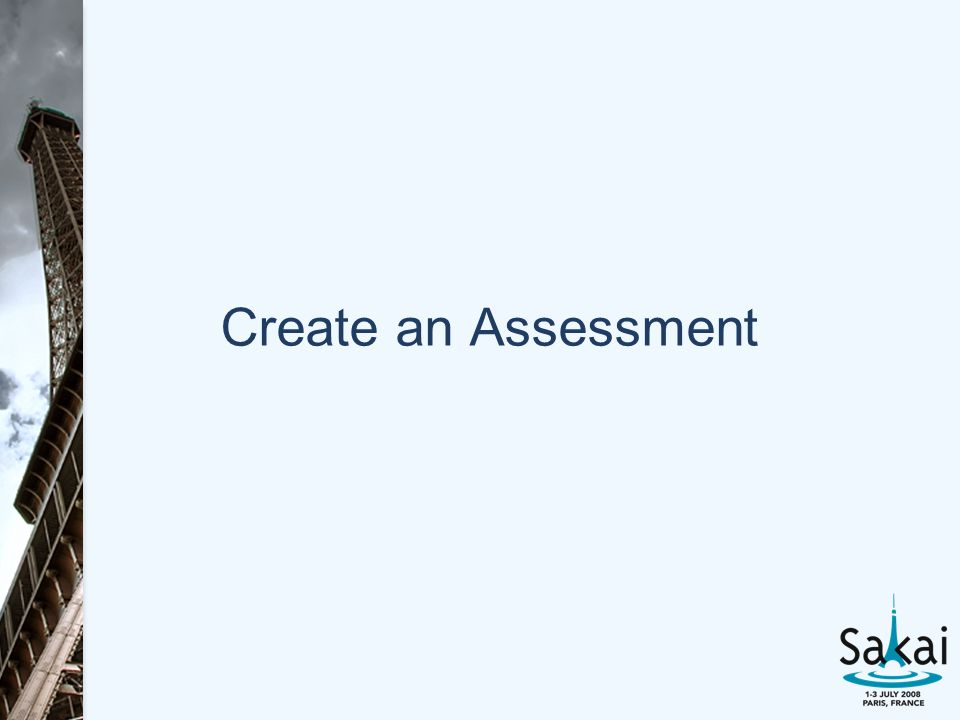 Create an Assessment