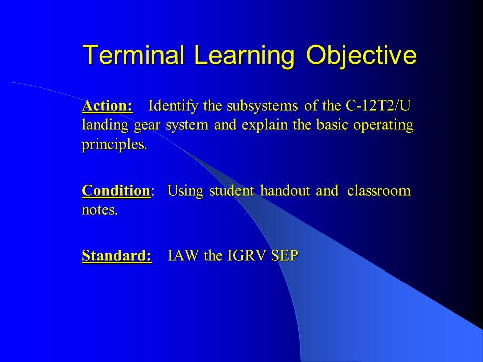 C-12 Landing Gear System Main Gear Down Lock