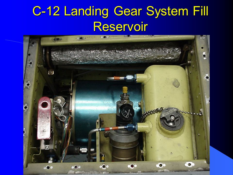 C-12 Landing Gear System Brake Fluid Reservoir