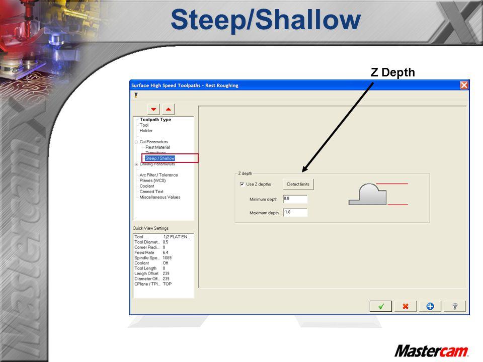 Steep/Shallow Z Depth