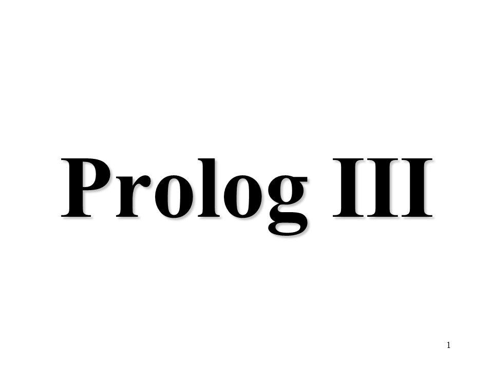 1 Prolog III