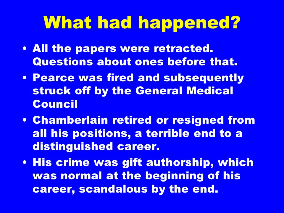 What had happened. All the papers were retracted.