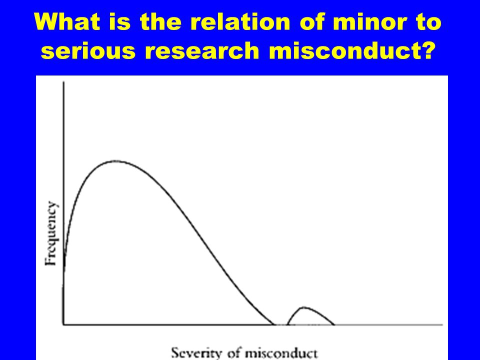What is the relation of minor to serious research misconduct