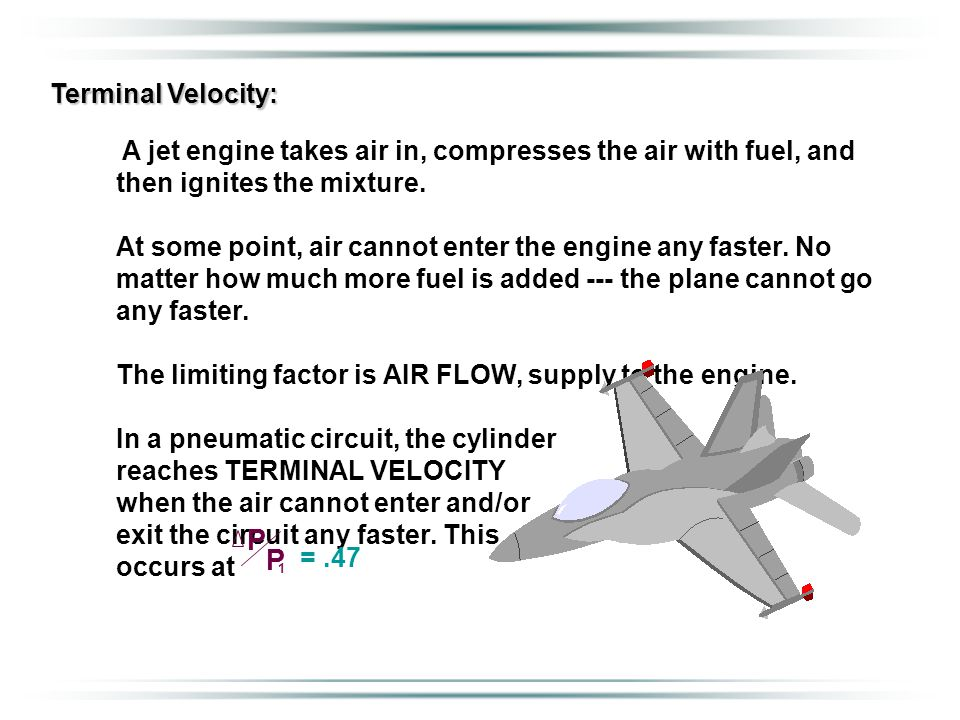 Terminal Velocity: A jet engine takes air in, compresses the air with fuel, and then ignites the mixture.