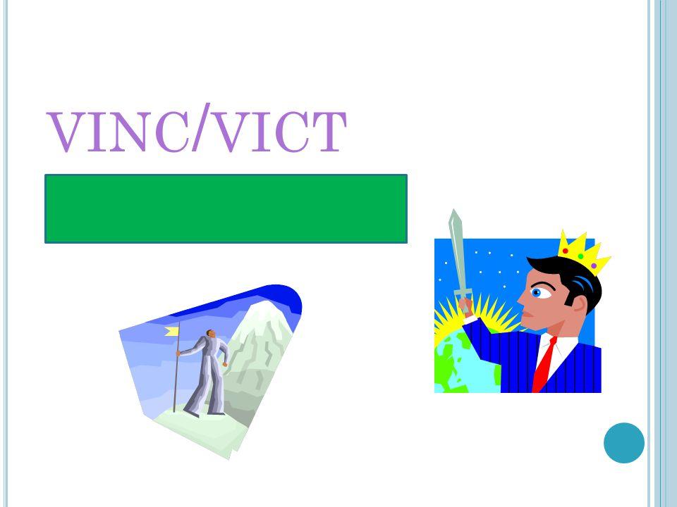 VINC / VICT T O CONQUER