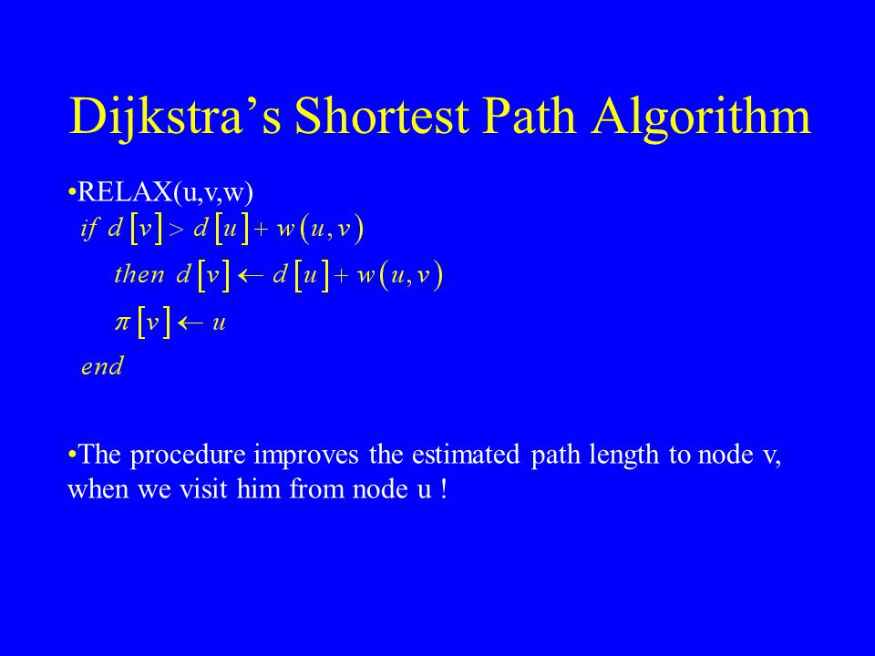 The Full Algorithm DIJKSTRA(G,w,s) The extract the path we go from node t to it's parents until we reach s .