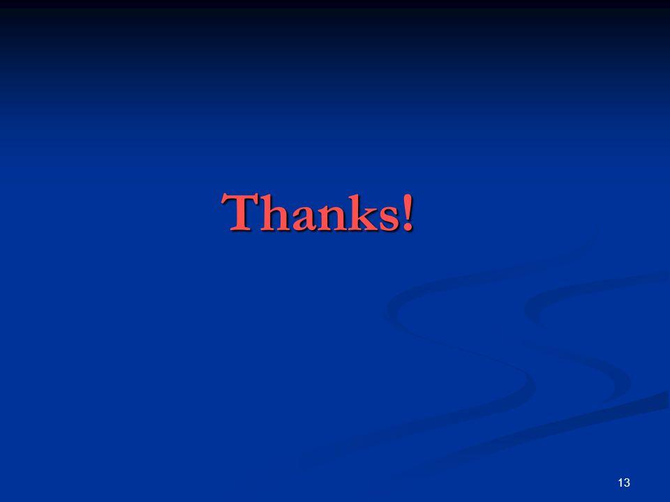 13 Thanks!