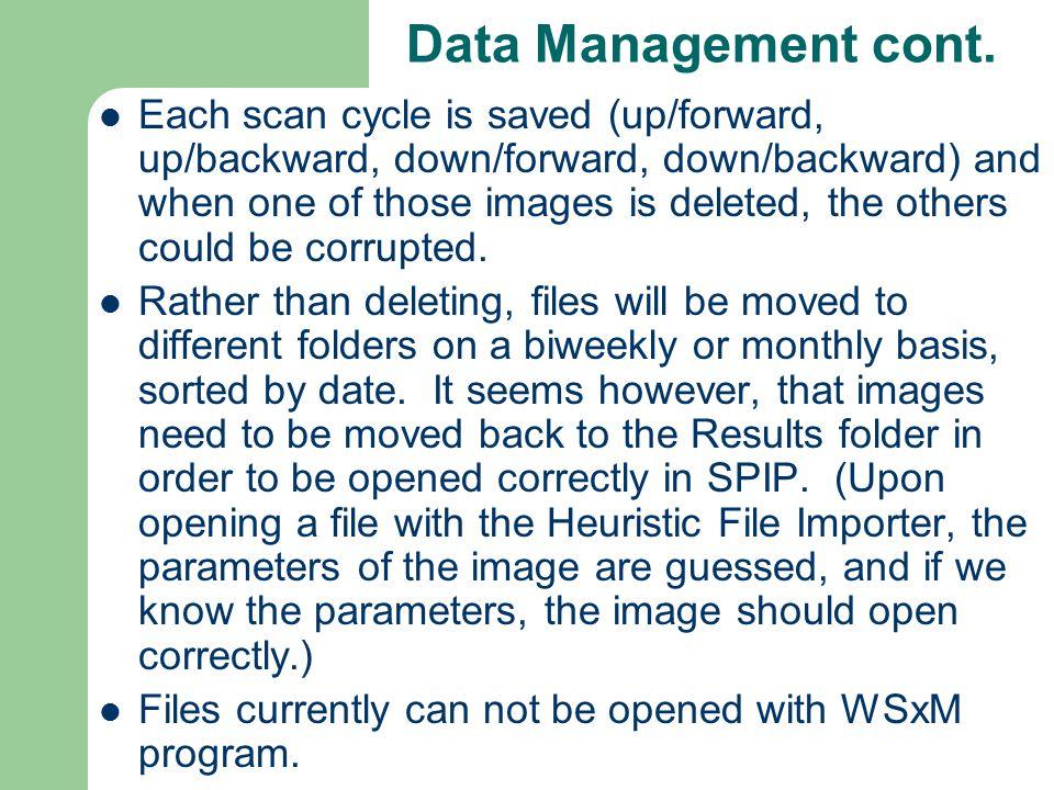 Data Management cont.