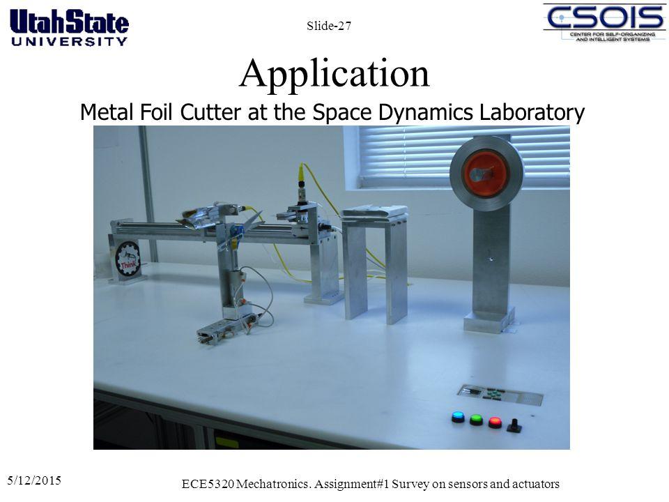 Application 5/12/2015 ECE5320 Mechatronics.