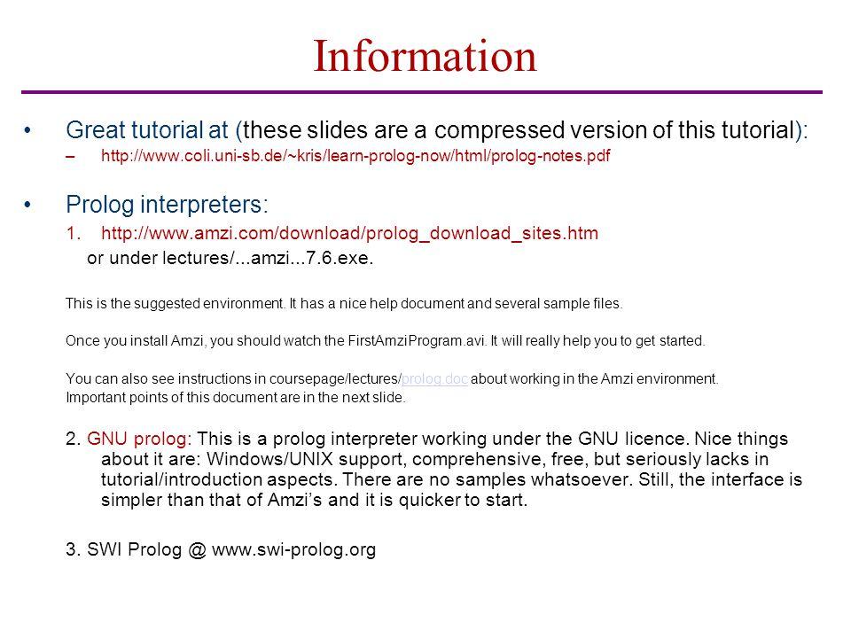 I/O Example in Gene.pro ?- mother(ayse,ali).