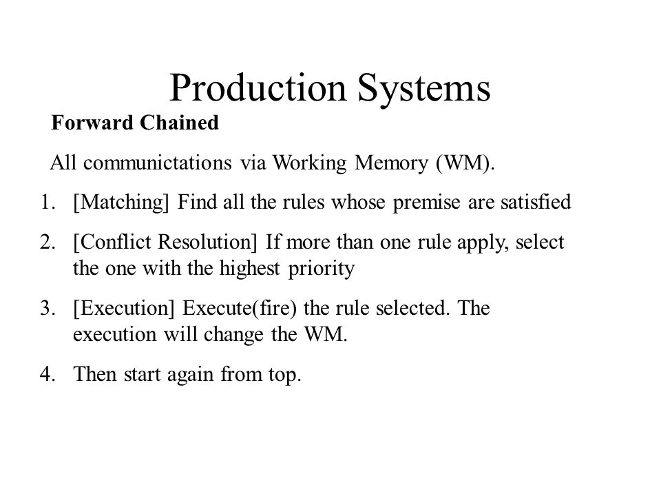 Efficiency considerations 1 Forward reasoning can be done in levels.