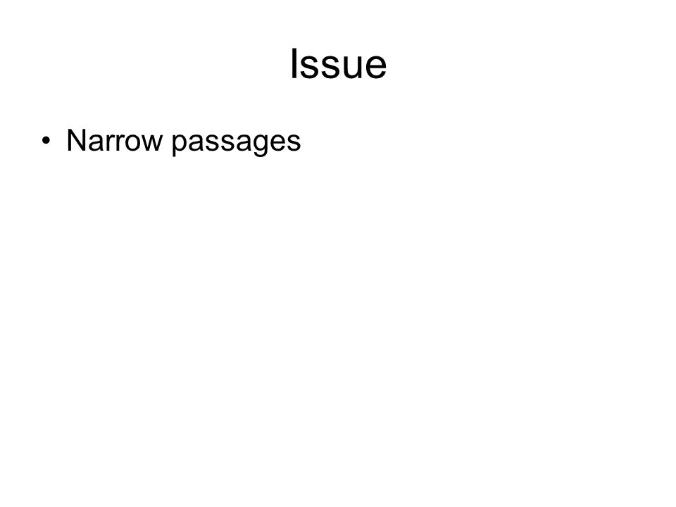 Issue Narrow passages