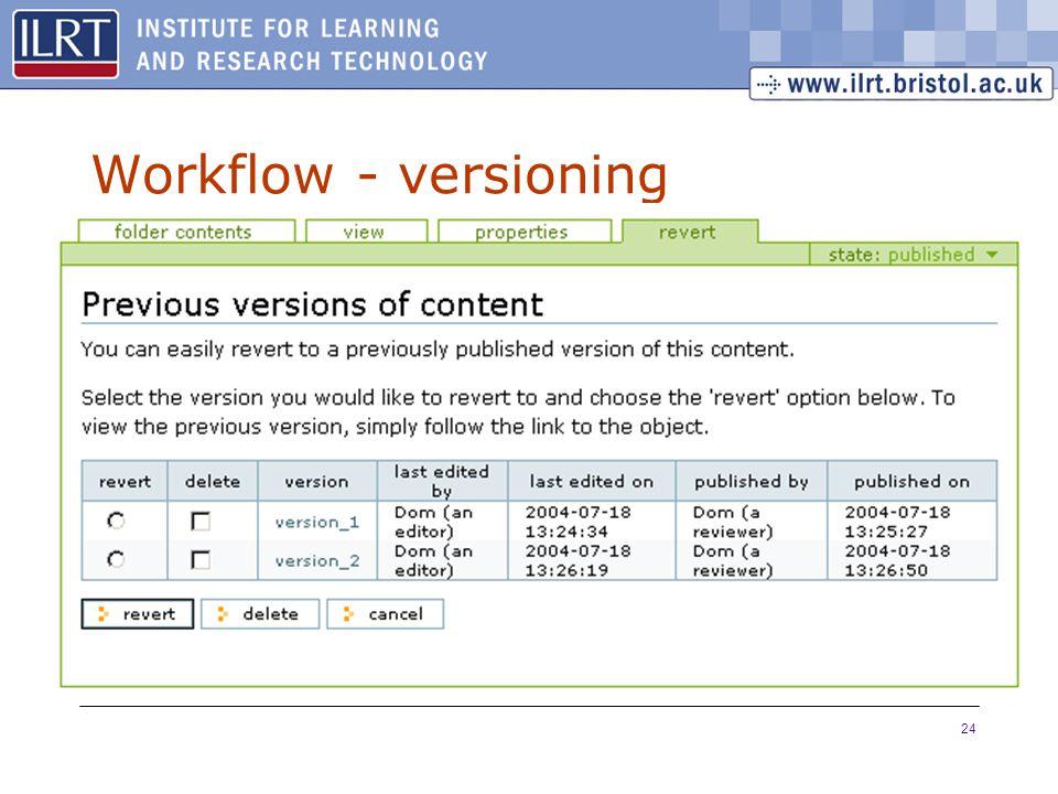 24 Workflow - versioning