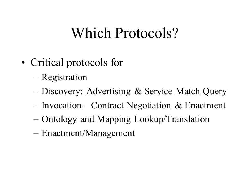 Which Protocols.
