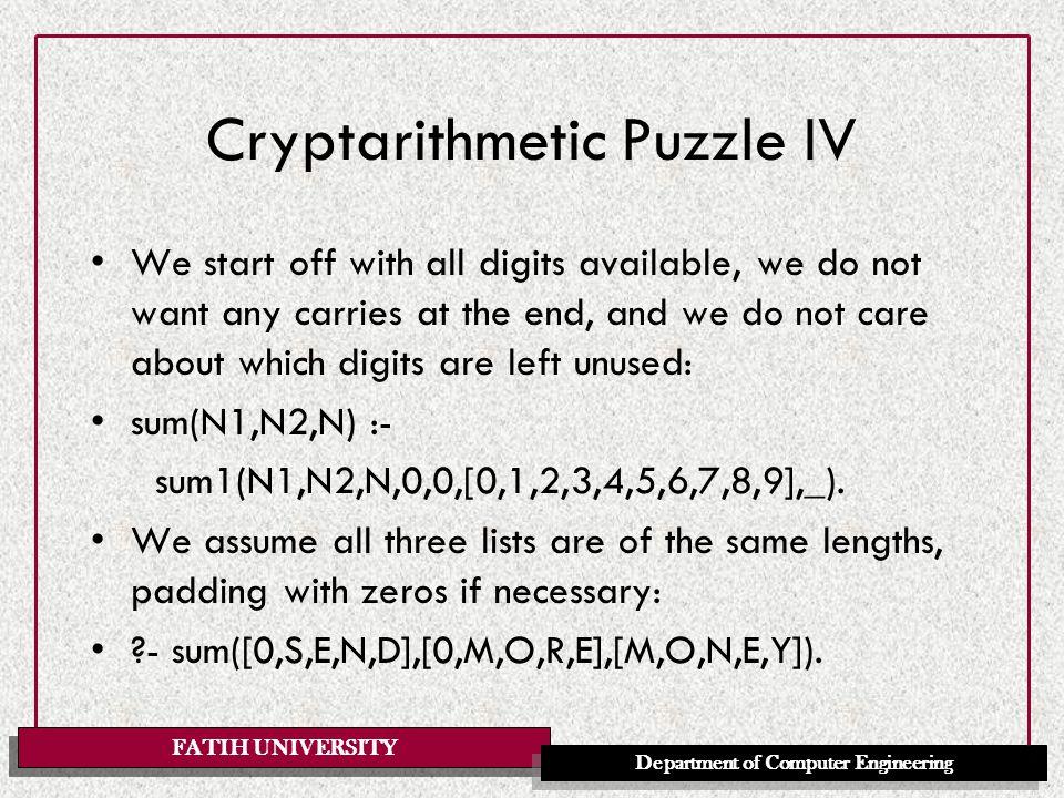 FATIH UNIVERSITY Department of Computer Engineering Database manipulation ?- assert(getal(2)), assert(getal(3)), listing.