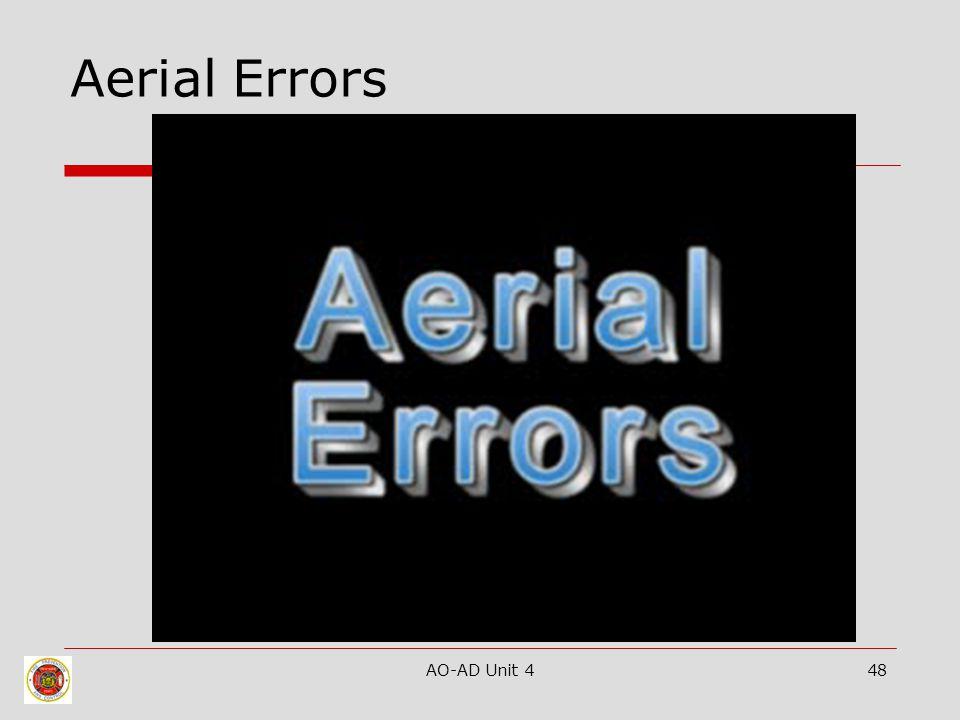 AO-AD Unit 448 Aerial Errors
