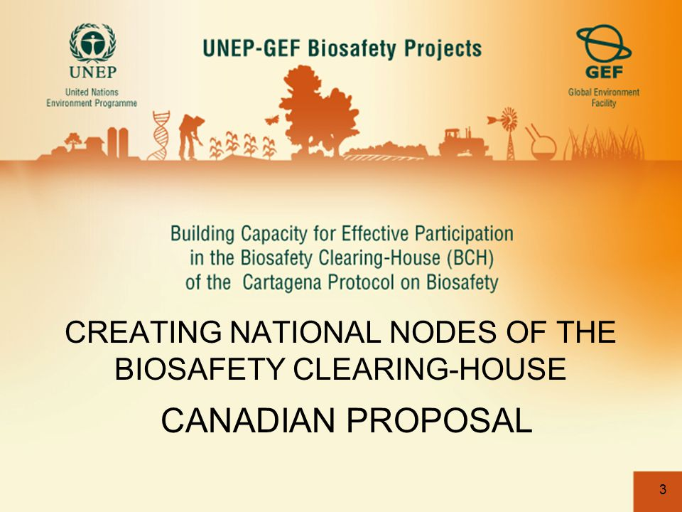 3 CREATING NATIONAL NODES OF THE BIOSAFETY CLEARING-HOUSE CANADIAN PROPOSAL