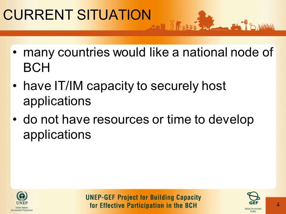 5 POTENTIAL SOLUTION CNBCH developed with scalability, reuse and capacity development in mind applications developed for CNBCH as base incremental work to make it portable development of stand-alone, open-source and platform independent suite of applications proposal made to UNEP in May 2004 ***Proposal for nBCHProposal for nBCH