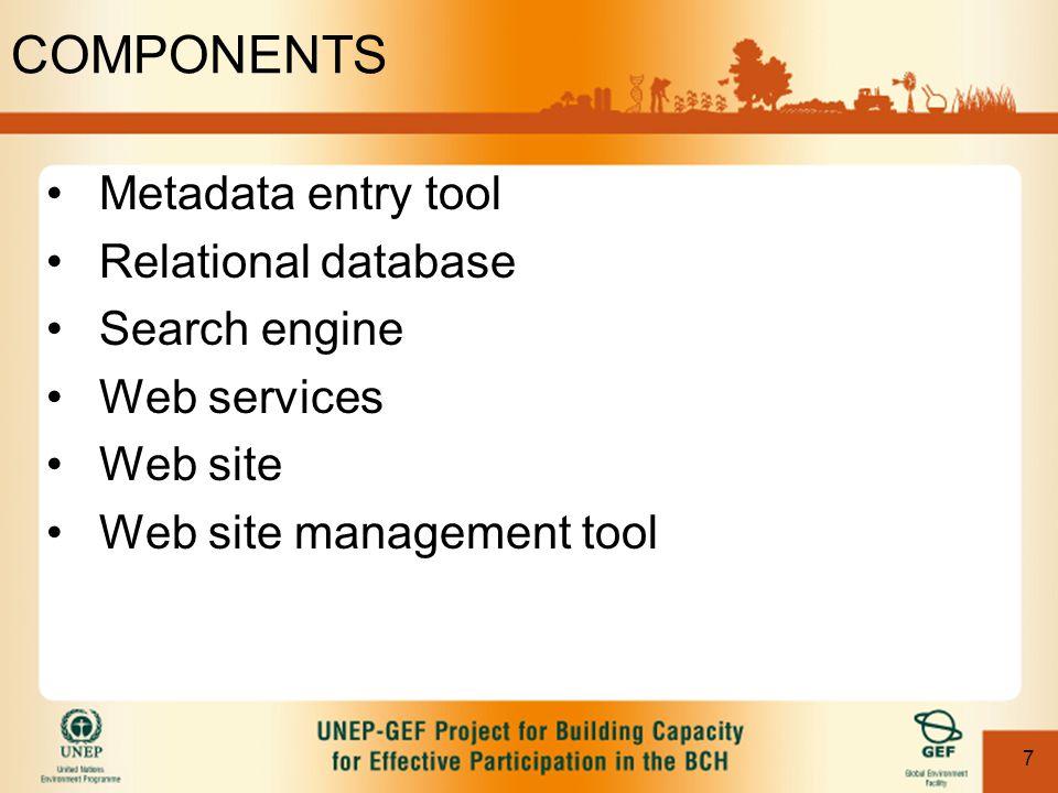 58 Hardware & Software Installation of Website templates of Database –Full Installation of database requirements, plus –Web Server running Microsoft IIS –HTML Editor to modify templates